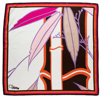 Diane von Furstenberg Abstract Print Silk Scarf $85 thestylecure.com