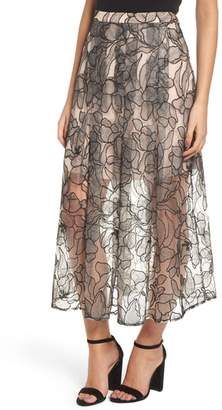 WAYF Pleated Lace Skirt