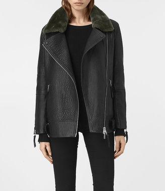 Tanser Leather Biker Jacket $725 thestylecure.com