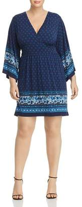 MICHAEL Michael Kors Batik Border Print V-Neck Dress