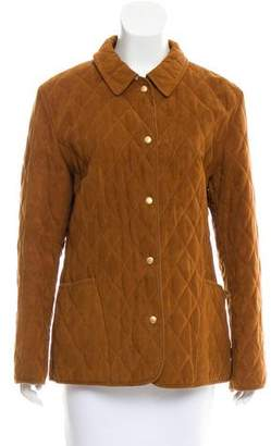 Burberry Quilted Button-Up Jacket