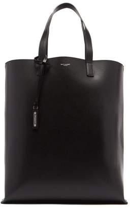 Saint Laurent Leather Tote - Mens - Black