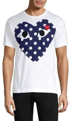 Comme des Garcons Polka Dot Logo T-Shirt