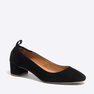 J.Crew Factory Anya suede block heels