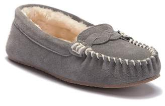 Minnetonka Brittany Braided Faux Fur Lined Moccasin