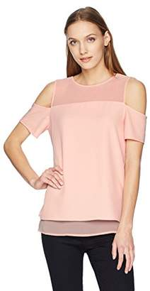 Calvin Klein Women's Short Sleeve Cold Shoulder