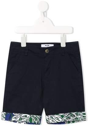 MSGM Kids printed hems shorts