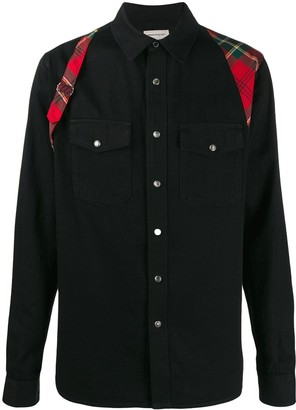 Alexander McQueen plaid harness shirt