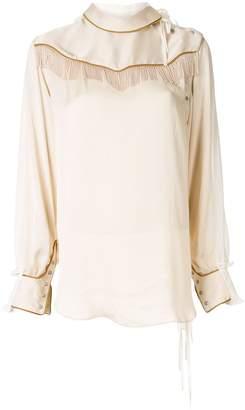 Facetasm fringe detail blouse