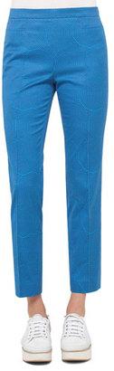 Akris punto Franca Sunshade-Print Ankle Pants, Blue $495 thestylecure.com