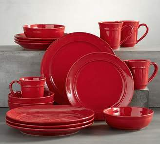 Pottery Barn Cambria 16-Piece Dinnerware Set - Red