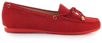 Michael Kors Sutton Red Suede Moccasin