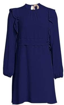 No.21 No. 21 No. 21 Women's Silk Ruffle Mini Dress - Viola - Size 46 (12)