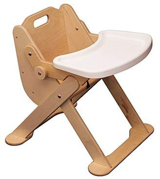Inspirational Nurseries Low High Chair, Wood, Brown