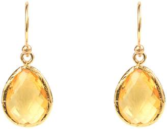 Latelita London - Petite Drop Earring Gold Citrine Hydro