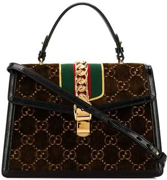 Gucci Sylvie GG velvet tote bag
