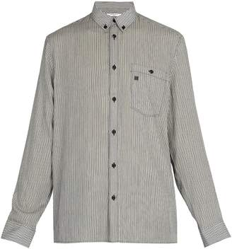 Givenchy Point-collar striped shirt