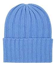 The Elder Statesman Women's Short Bunny Echo Cashmere Beanie-Blue