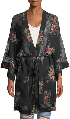 Willow & Clay Floral Lace Kimono Cardigan