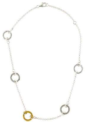 Gurhan Two-Tone Station Necklace