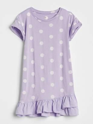 Gap Ruffle T-Shirt Dress