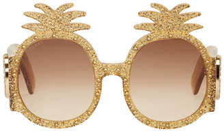 Gucci Yellow Pineapple Glitter Sunglasses