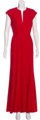 Elie Saab Silk-Blend Short Sleeve Gown