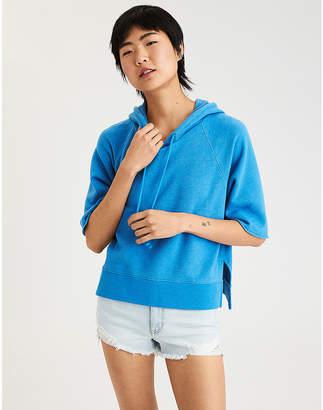 American Eagle AE Short Sleeve Hoodie Sweatshirt