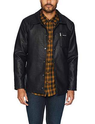 Members Only Men's Vegan Leather Coach Jacket