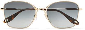 Givenchy Square-frame Gold-tone Sunglasses
