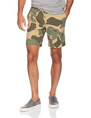 Original Penguin Men's Elastic Waistband Camo Print Short