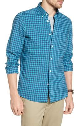 1901 Trim Fit Heather Gingham Linen Blend Sport Shirt