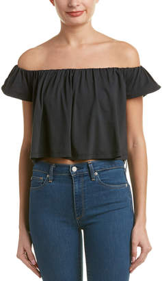 Susana Monaco Off-Shoulder Crop Top