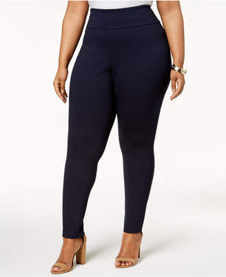 Tommy Hilfiger Plus Size Pull-On Ponte-Knit Pants