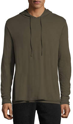 Vince Men's Double-Layer Pullover Hoodie