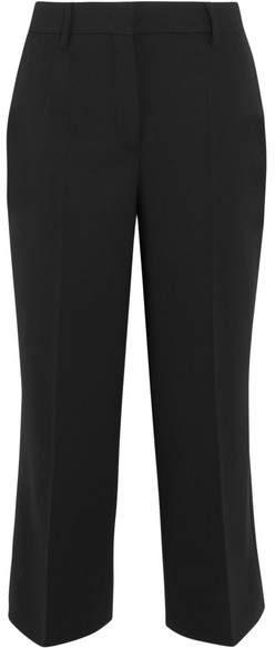 Prada - Cropped Wool-blend Wide-leg Pants - Black