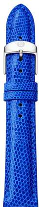Michele Cobalt Lizard-Embossed Leather Strap, 16mm