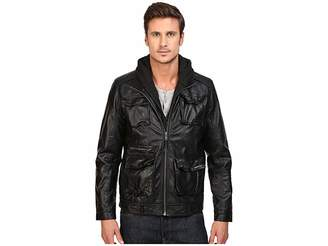 Members Only L-Train Washed PU Jacket Men's Coat