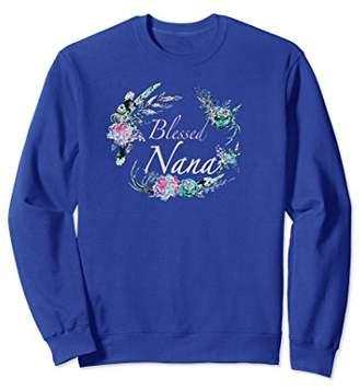 Blessed Nana Sweatshirt Natural Floral