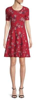 Milly Twilight Floral Flare Dress