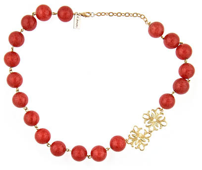 K. Amato Red Beaded Necklace