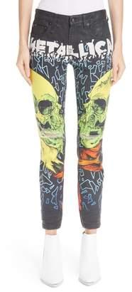 R 13 Kate Print Skinny Jeans