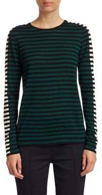 Akris Punto Tricolor Wool-Knit Top