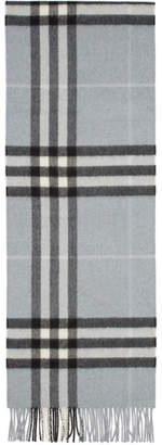 Burberry Blue Giant Icon Cashmere Scarf