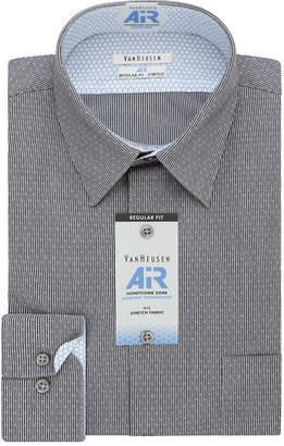 Van Heusen Air Mens Point Collar Long Sleeve Stretch Dress Shirt