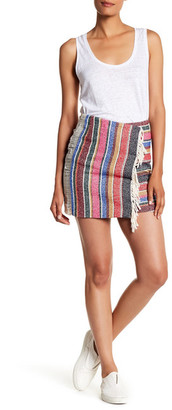 Sandro Tapestry Wrap Miniskirt $355 thestylecure.com