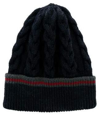 Gucci Merino Wool Web-Trimmed Beanie