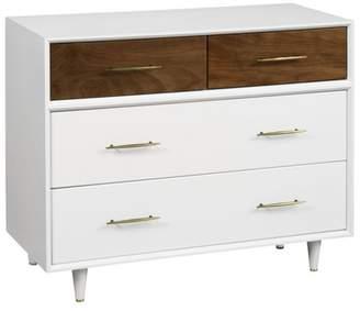 Babyletto Eero 4-Drawer Dresser - White & Natural Walnut