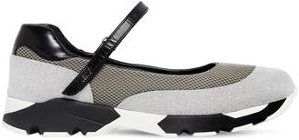 Marni 30mm Mary Jane Leather & Mesh Sneakers