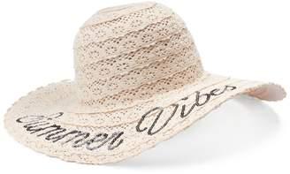 "Mudd Women's Summer Vibes"" Crochet Floppy Hat"